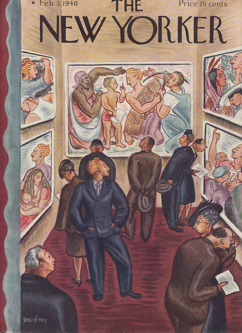Image for New Yorker cover Snedeker Diego Rivera 2/3 1940