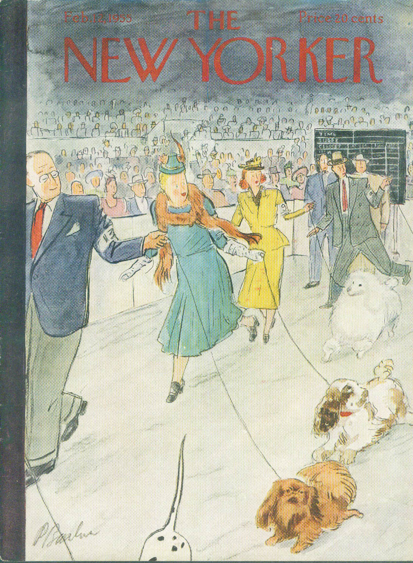 Image for New Yorker cover Barlow dog show 2/12 1955