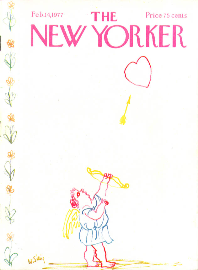 Image for New Yorker cover Steig Valentine cupid heart 2/14 1977