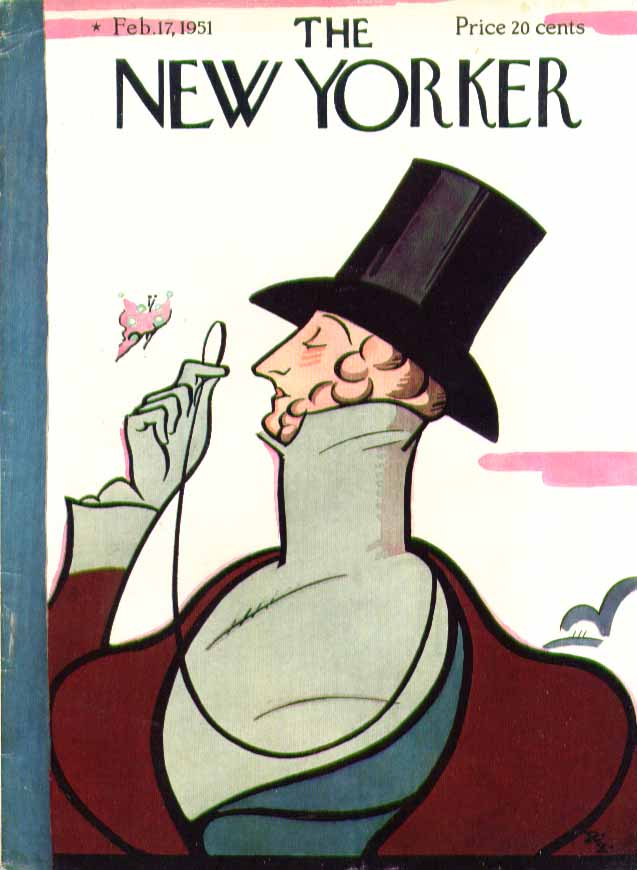 Image for New Yorker cover Irvin Eustace Tilley 2/17 1951