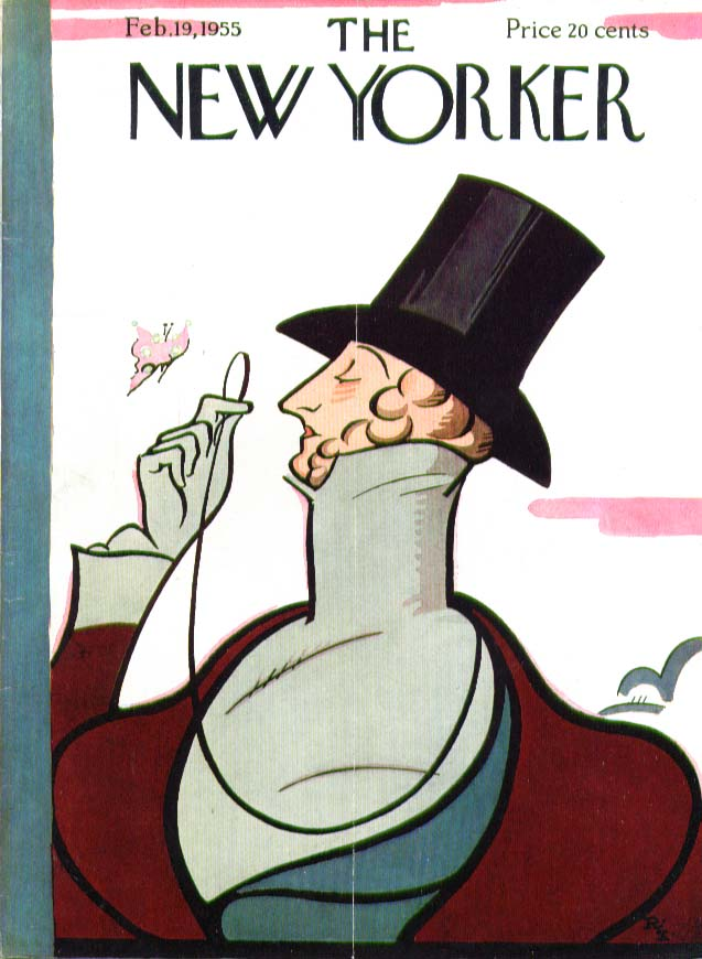 Image for New Yorker cover Irvin Eustace Tilley 2/19 1955