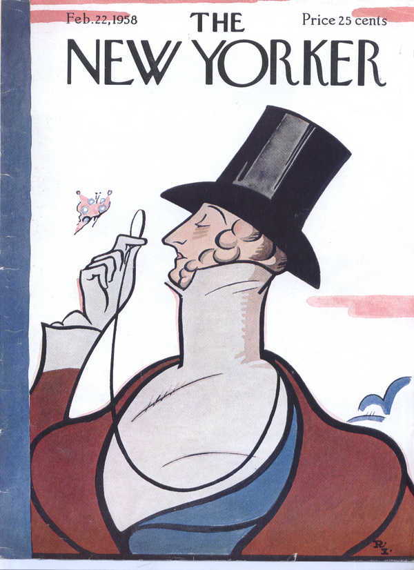 Image for New Yorker cover Irvin Eustace Tilley 2/22 1958