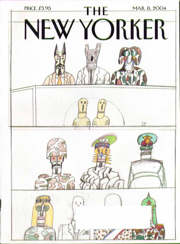 Image for New Yorker cover Saul Steinberg military figureheads & dead 3/8 2004