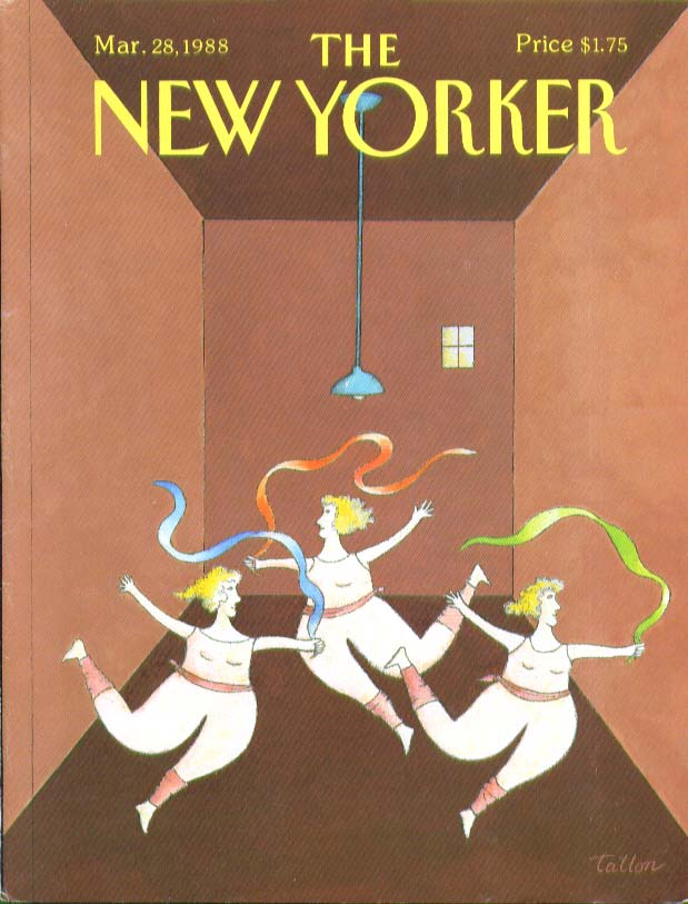 Image for New Yorker cover Tallon big women working out 3/28 1988