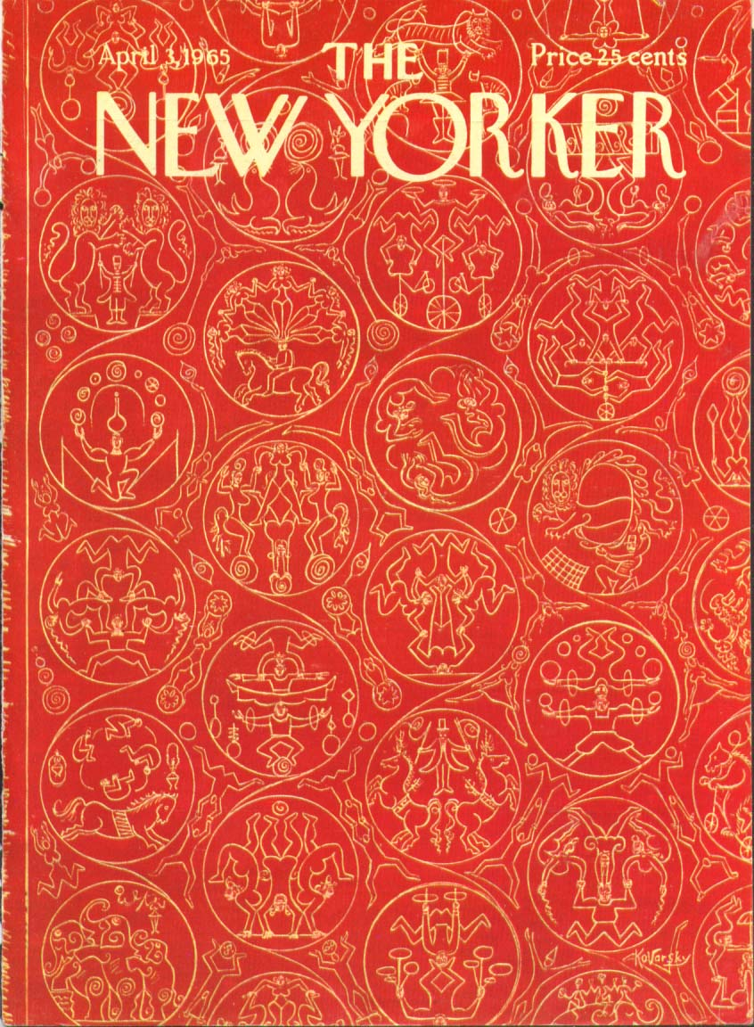 Image for New Yorker cover Kovarsky circus patterns 4/3 1965