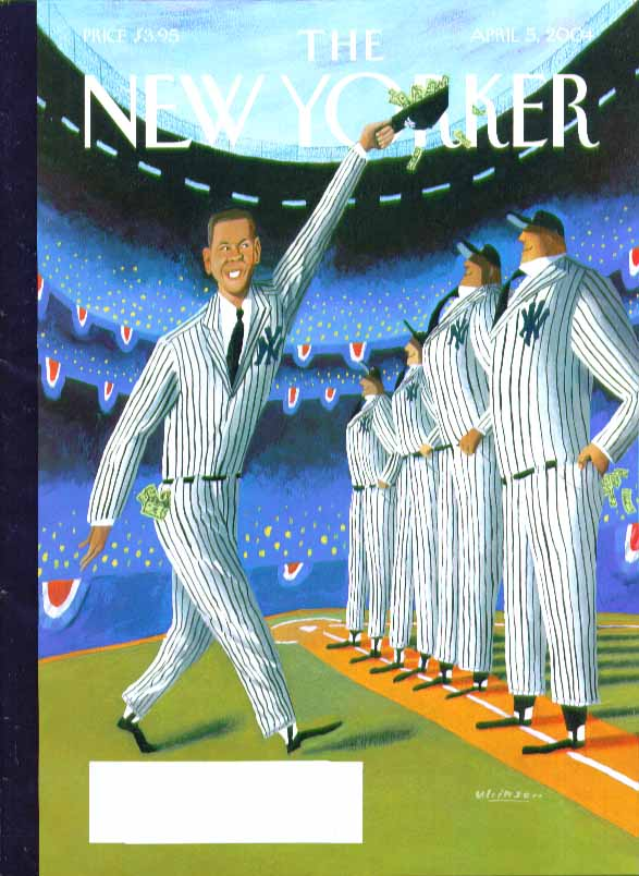 Image for New Yorker cover Mark Ulriksen Alex Rodriquez joins Yankee line-up 4/5 2004