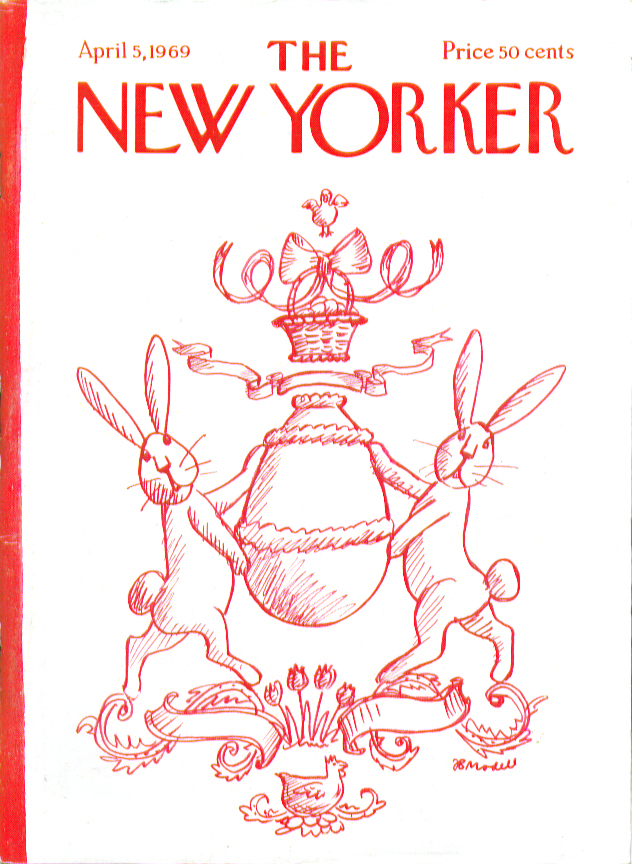 Image for New Yorker cover Modell Easter bunny family crest 4/5 1969