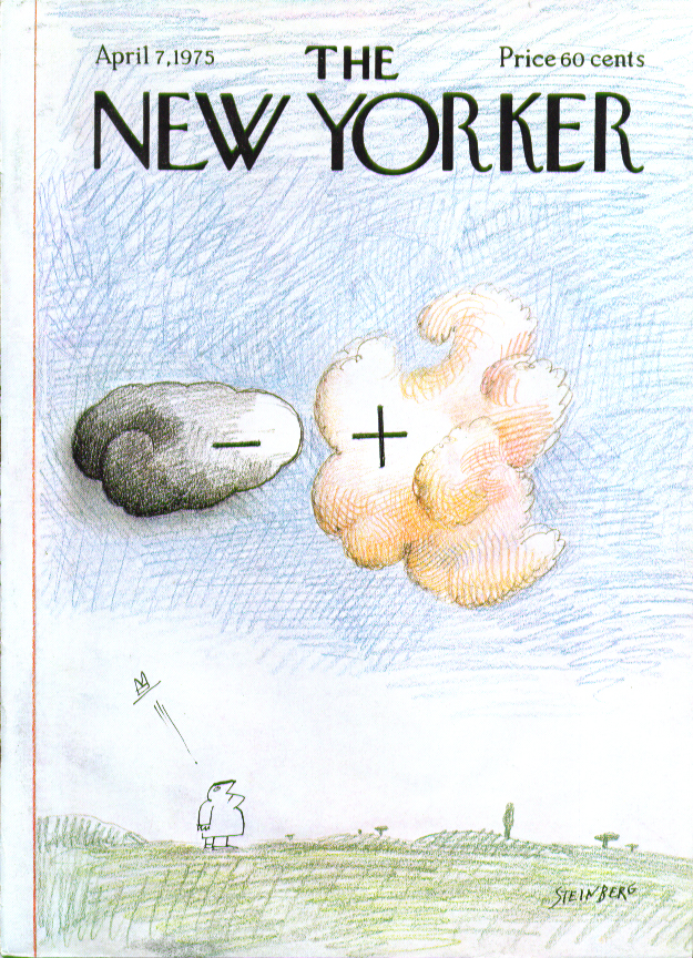 Image for New Yorker cover Steinberg - & + thunderstorm 4/7 1975