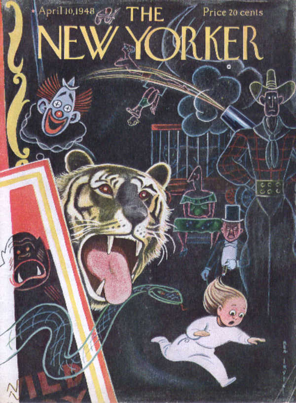 Image for New Yorker cover Irvin scary circus dreams 4/10 1948