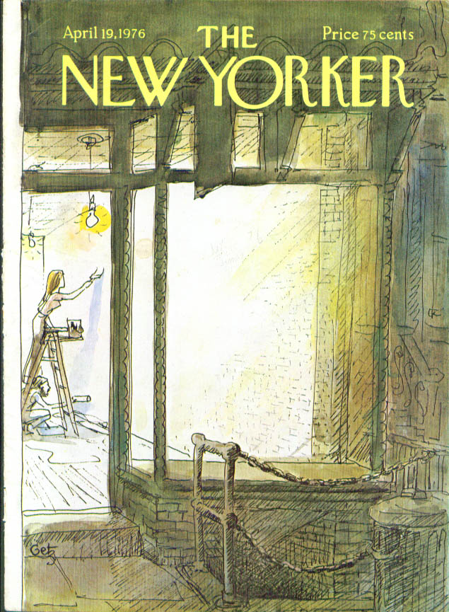 Image for New Yorker cover Getz painting storefront 4/19 1976