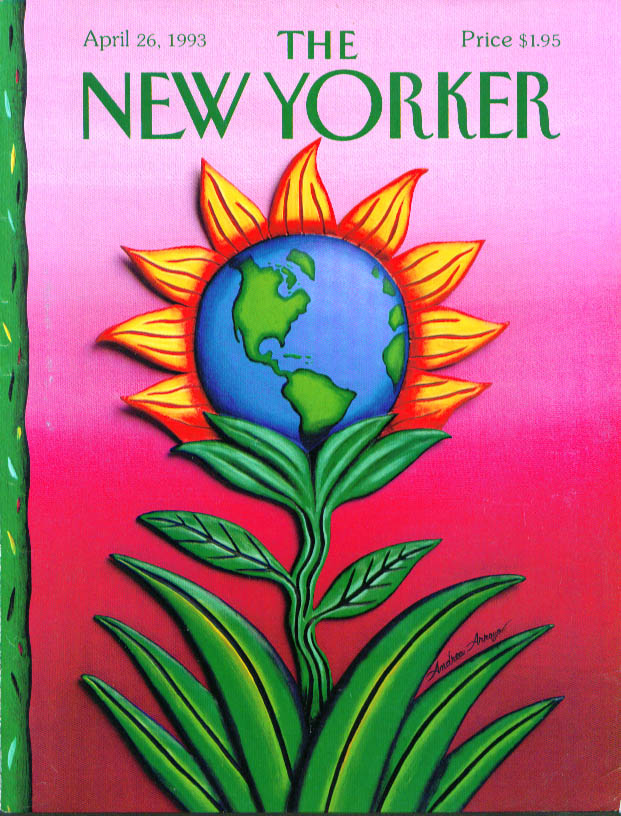 Image for New Yorker cover Arroyo world as sunflower 4/26 1993