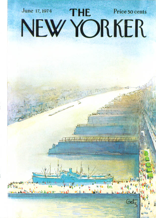 Image for New Yorker cover Getz dockside crowd 6/17 1974
