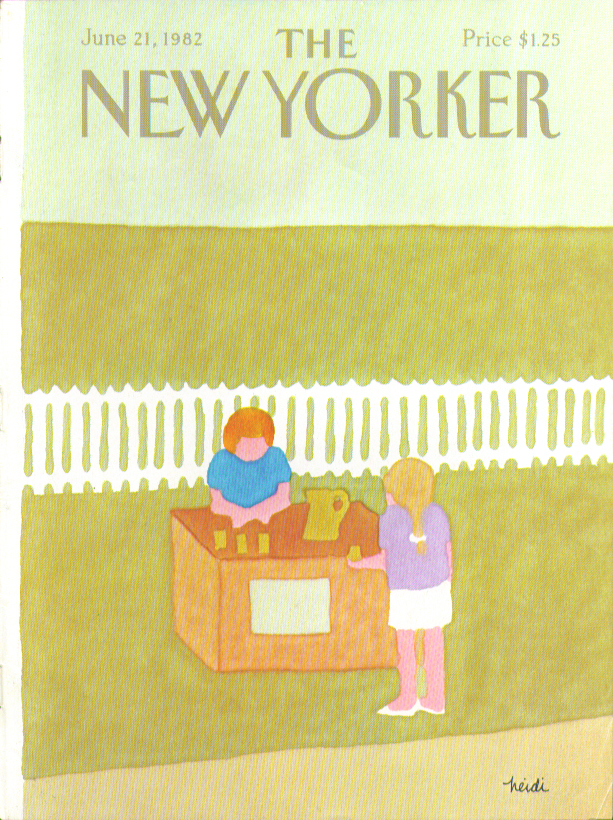 Image for New Yorker cover Heidi lemonade stand 6/21 1982