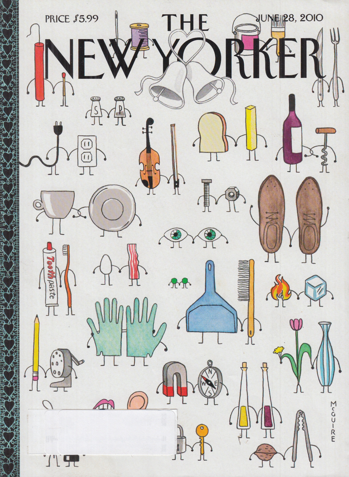 Image for New Yorker cover McGuire 6/28 2010 Things that go together in twos