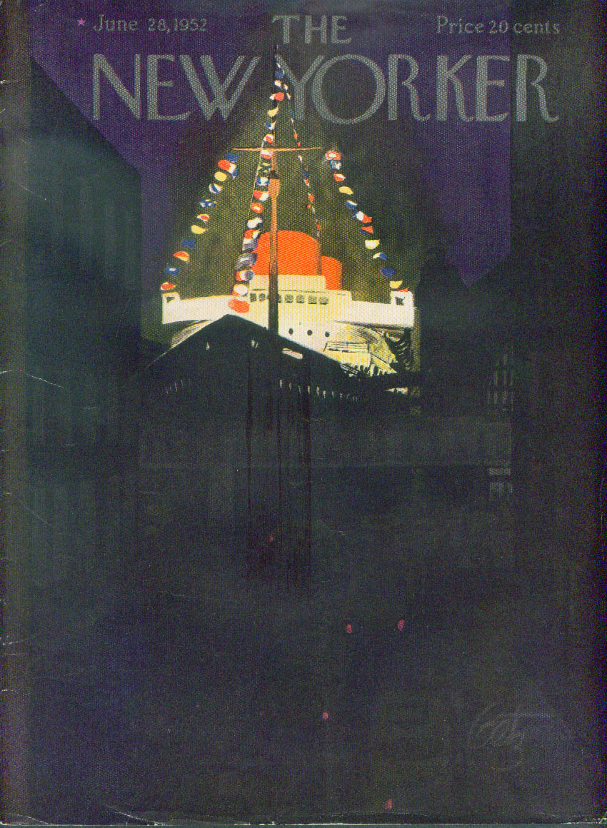 Image for New Yorker cover Getz cruise ship night 6/28 1952