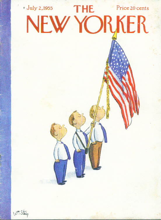 Image for New Yorker cover Steig Pledge of Allegience 7/2 1955