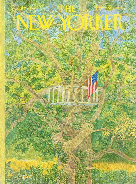 Image for New Yorker cover Karasz treehouse 7/3 1971
