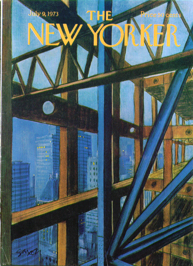 Image for New Yorker cover Saxon Skyscraper skeleton 7/9 1973