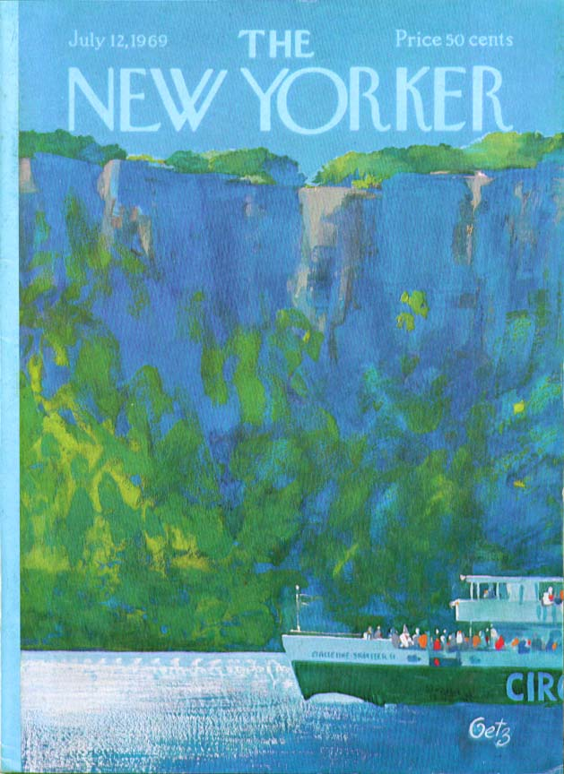 Image for New Yorker cover Getz Circle Line Palisades 7/12 1969