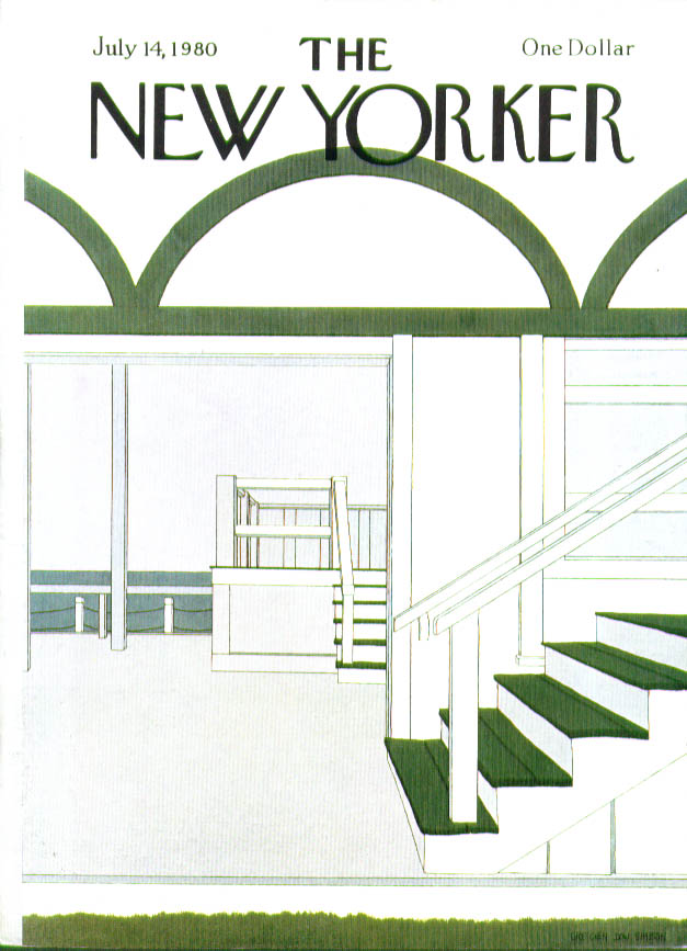 Image for New Yorker cover Simpson summer home stairs 7/14 1980