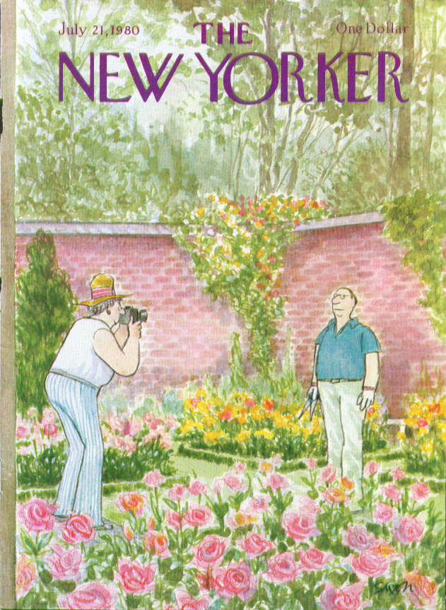 Image for New Yorker cover Saxon garden photography 7/21 1980