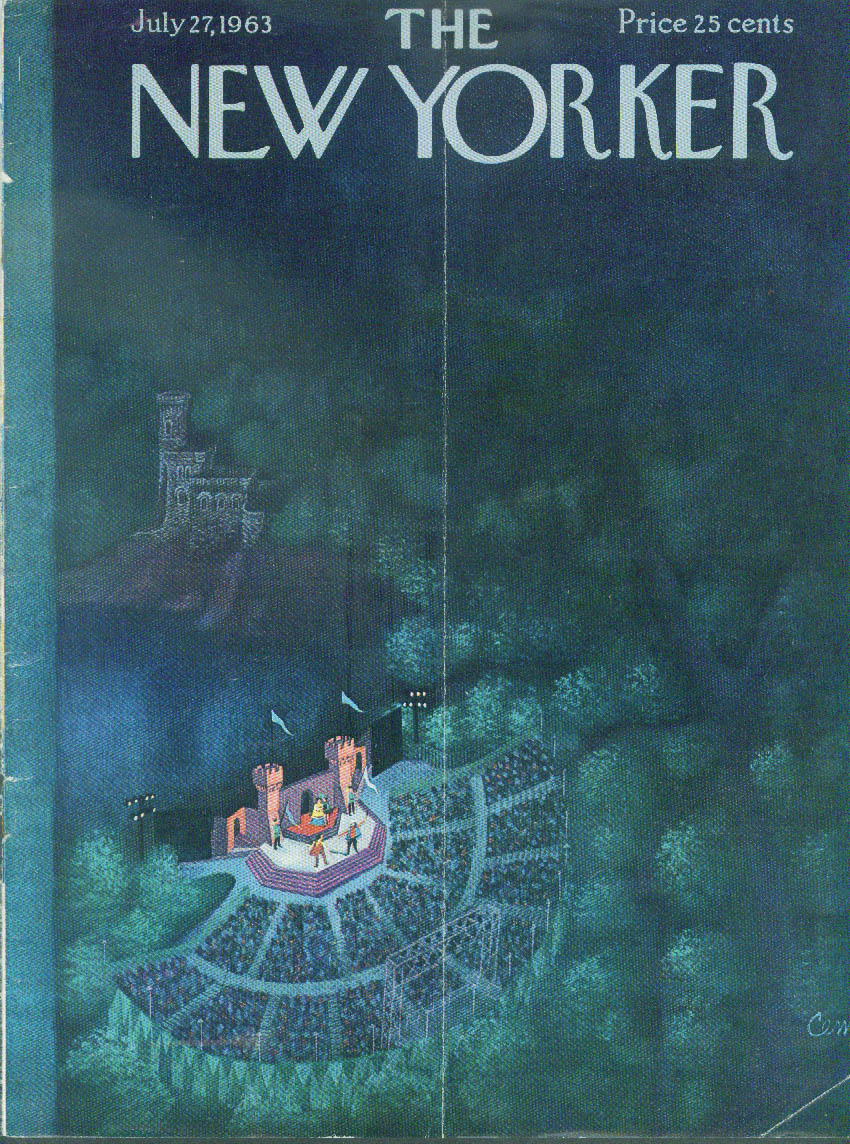 Image for New Yorker cover Martin Shakespeare in Park 7/27 1963