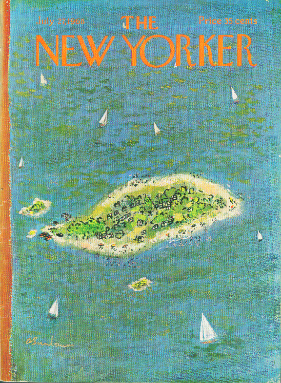 Image for New Yorker cover Birnbaum vacation island 7/27 1968
