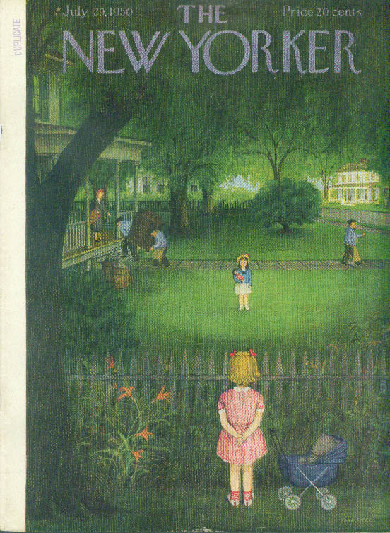 Image for New Yorker cover Eicke girls new neighbors 7/29 1950
