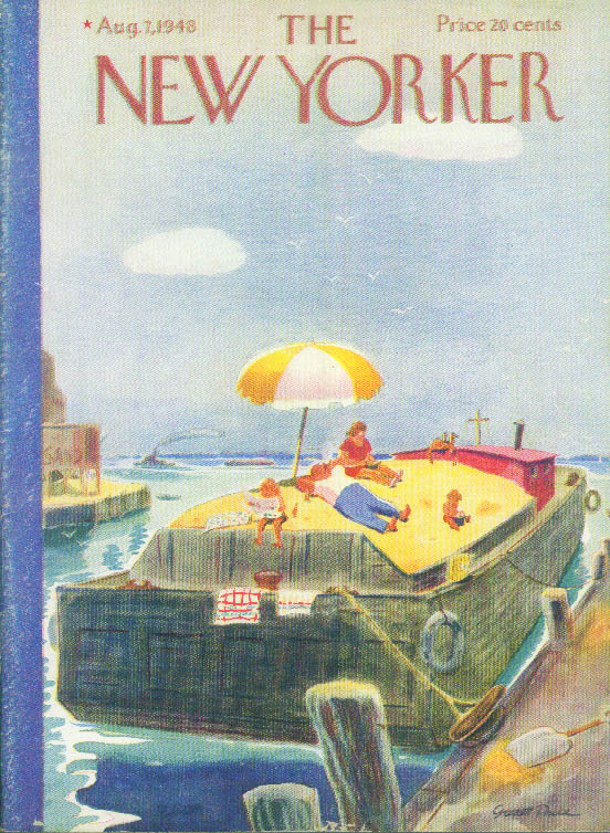 Image for New Yorker cover Price hikers v puddle jumpers 8/7 1948