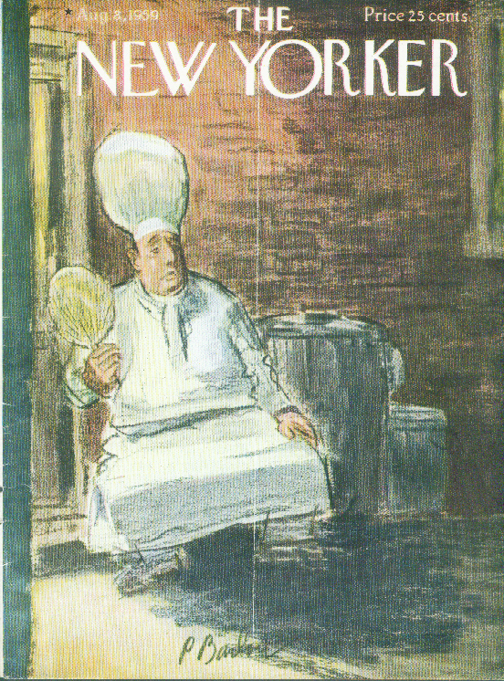 Image for New Yorker cover Barlow chef fans self alley 8/8 1959