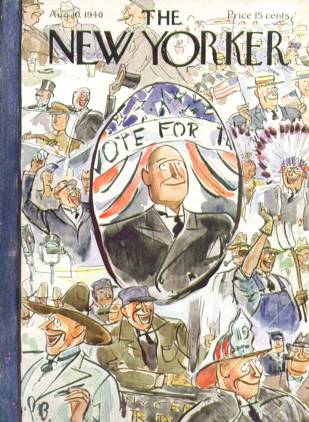 Image for New Yorker cover Barlow montage of candidate 8/10 1940