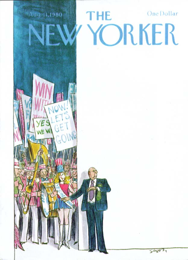 Image for New Yorker cover Saxon nomination celebration 8/11 1980
