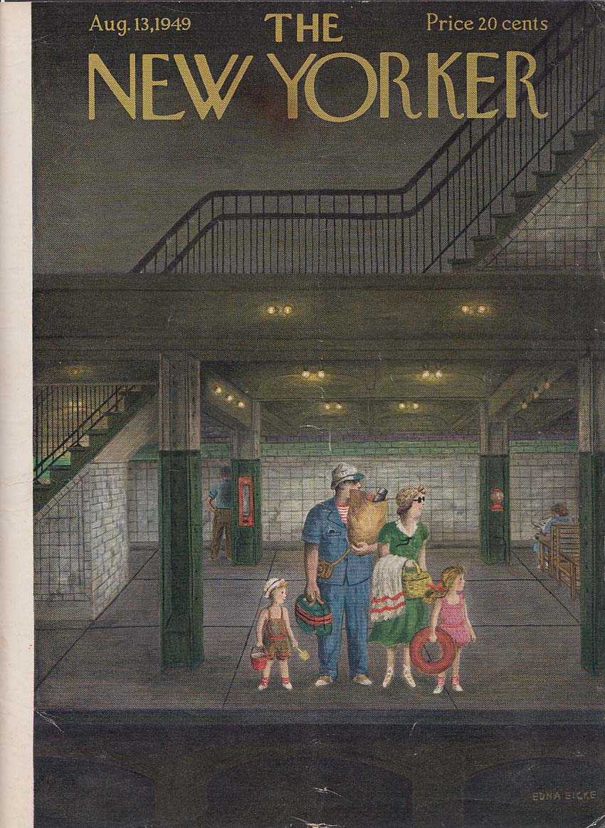 Image for New Yorker cover Eicke waiting for the subway 8/13 1949