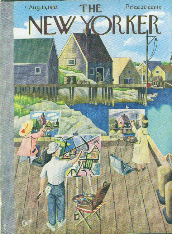 Image for New Yorker cover Martin Cubist and realist 8/15 1953