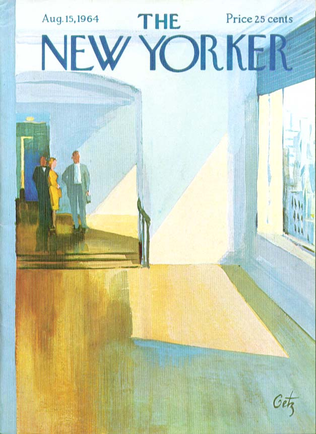 Image for New Yorker cover Getz showing nice apartment 8/15 1964