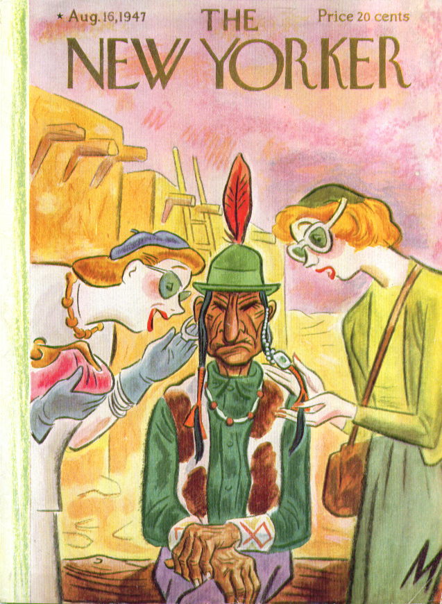 Image for New Yorker cover De Miskey lady tourists 8/16 1947