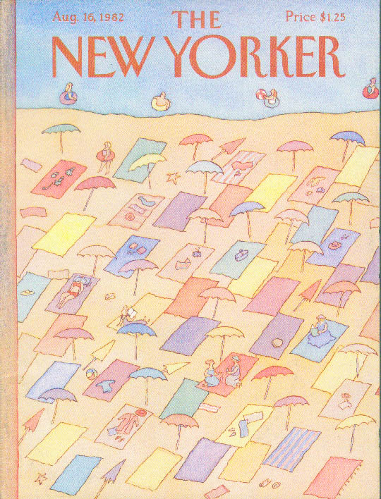 Image for New Yorker cover Johnson beach blankets 8/16 1982