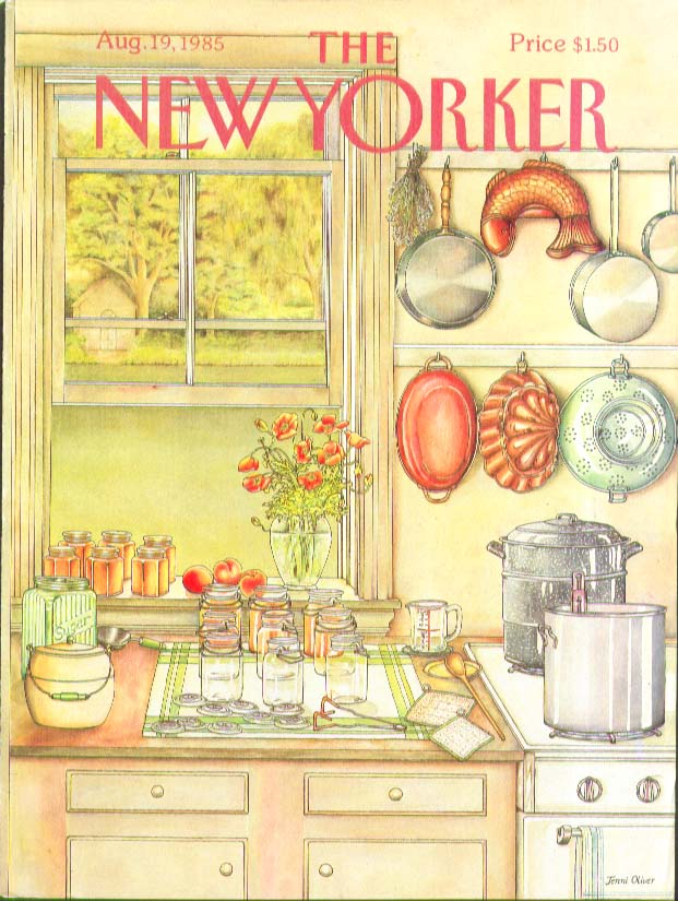 Image for New Yorker cover Oliver canning gear and jars 8/19 1985