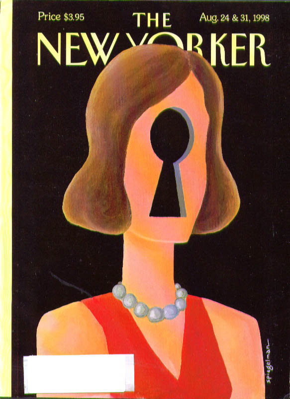Image for New Yorker cover Spiegelman keyhole woman 8/24 1998