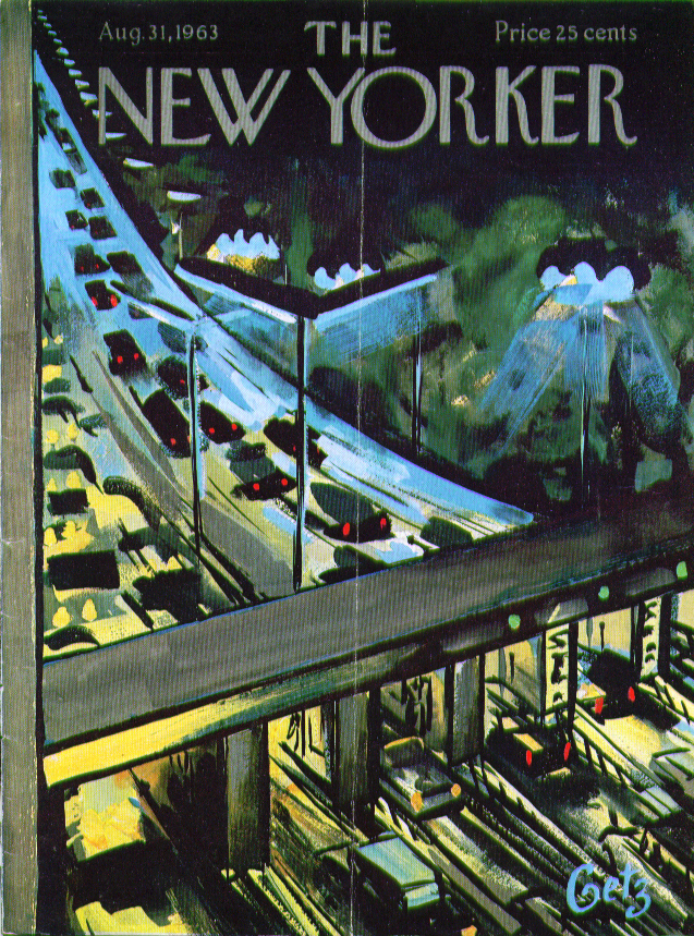 Image for New Yorker cover Getz nighttime at the toll 8/31 1963