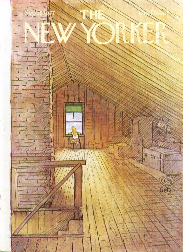 Image for New Yorker cover Getz little girl in attic 9/5 1977