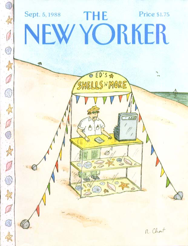 Image for New Yorker cover Chast Ed's Shells & more 9/5 1988