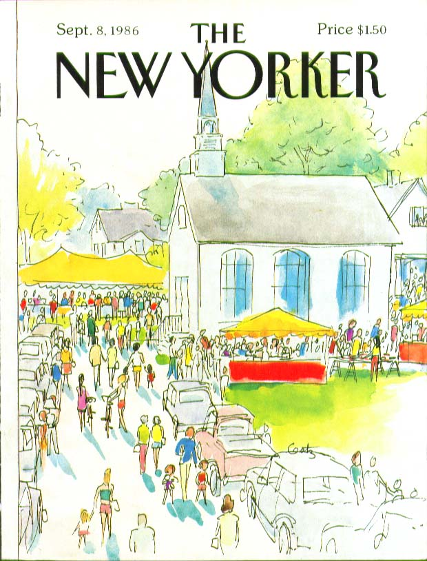 Image for New Yorker cover Getz small town church fair 9/8 1986