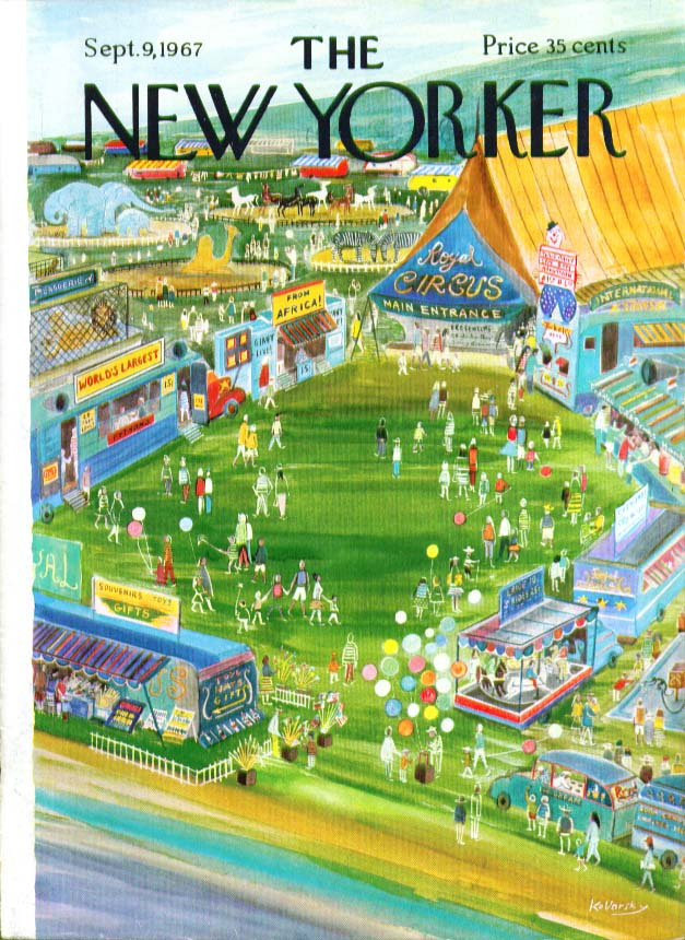 Image for New Yorker cover Kovarsky country circus 9/9 1967