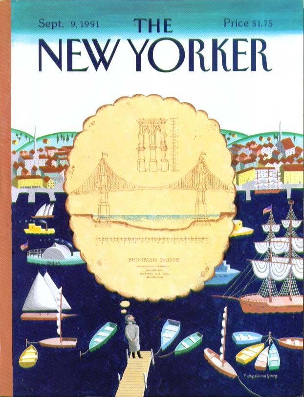 Image for New Yorker cover Young Roebling 9/9 1991