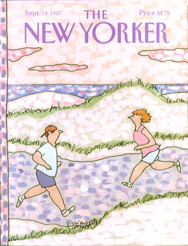 Image for New Yorker cover Ehrenberg two joggers 9/14 1987
