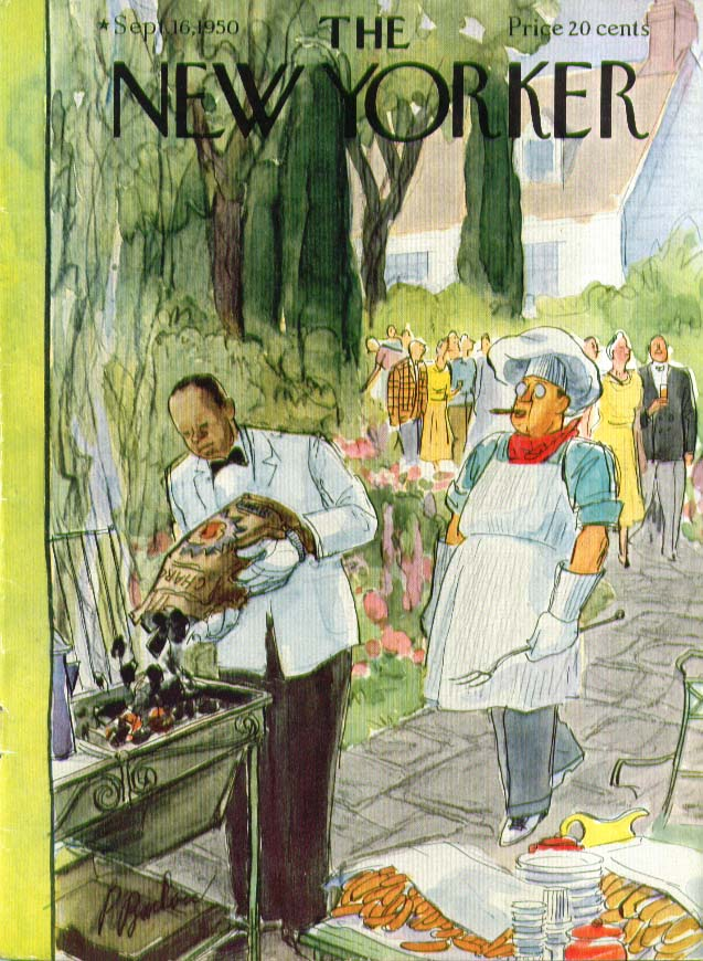 Image for New Yorker cover Barlow butler loads charcoal 9/16 1950