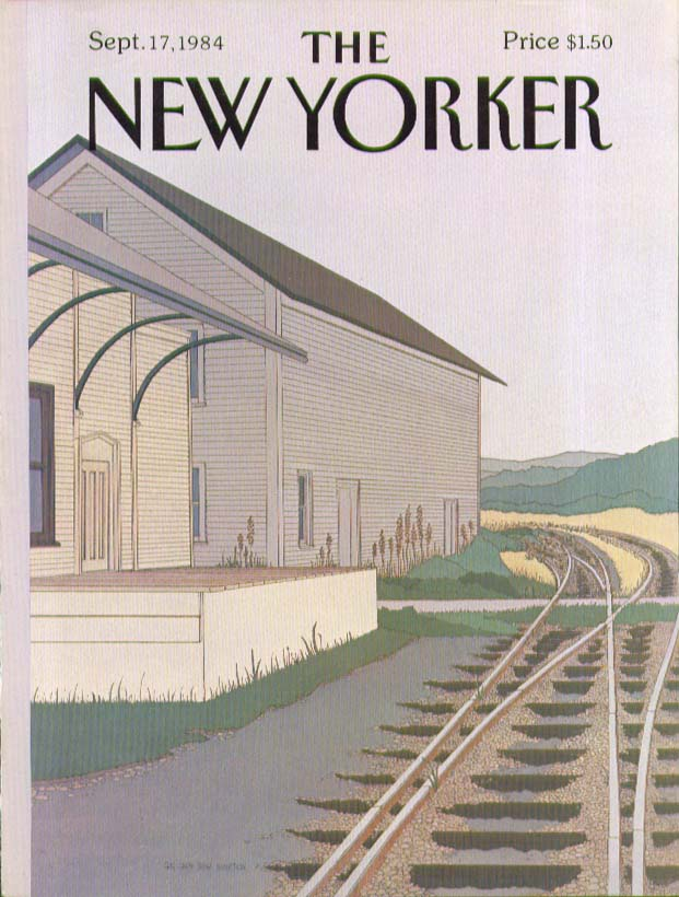 Image for New Yorker cover Simpson rural railroad 9/17 1984