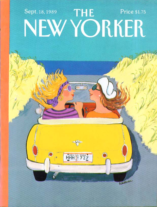 Image for New Yorker cover Westman sporty New York gals 9/18 1989