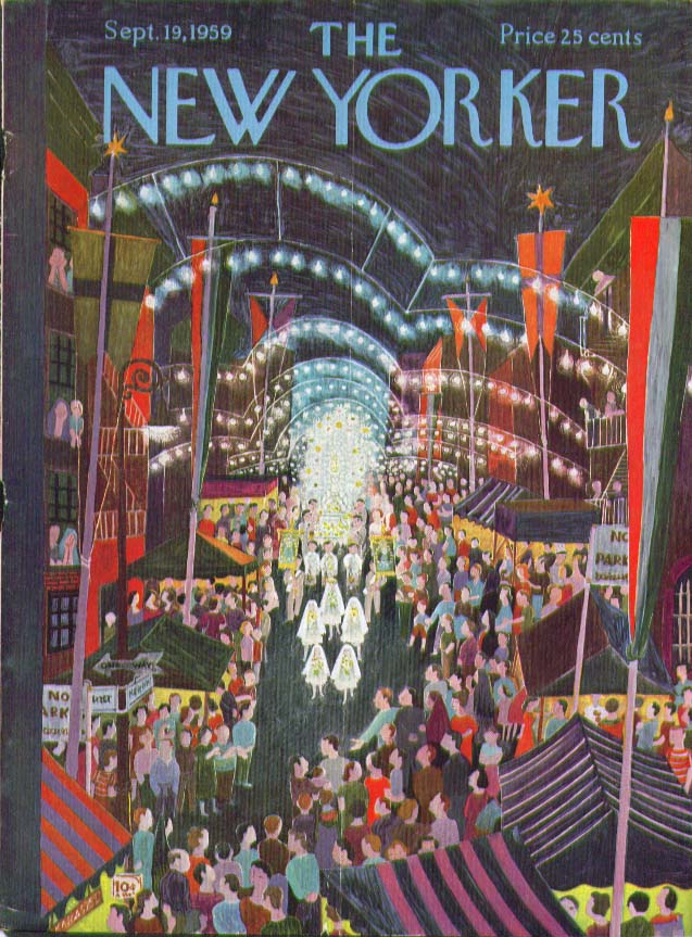 Image for New Yorker cover Karasz Little Italy 9/19 1959